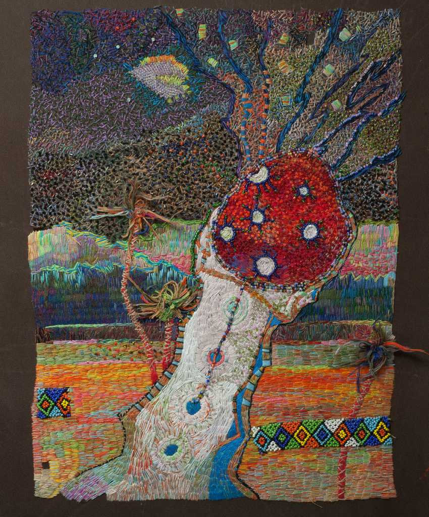 """Foma Faberge. embroidery """"the birth of morning"""" - photo 1"""