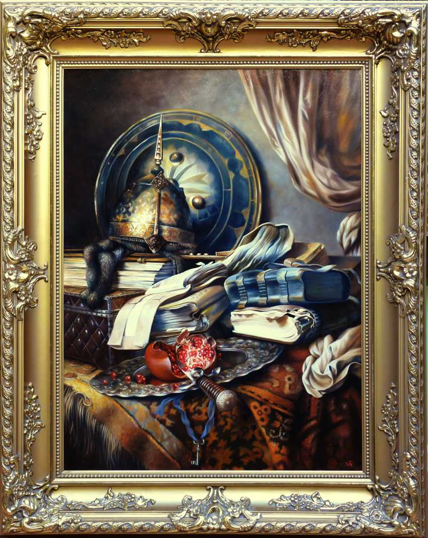 GALINA KURILENKO. Still life with armor and books - photo 2