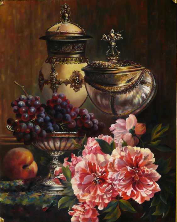 GALINA KURILENKO. Still life with cups and flowers - photo 2