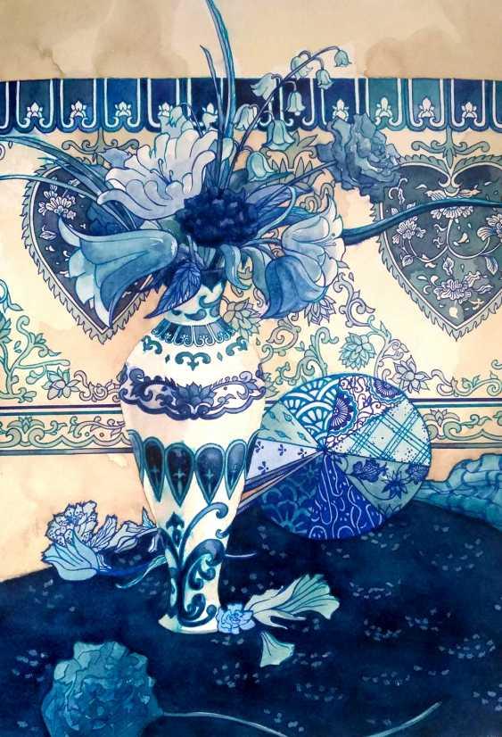 Tatiana Ignat. White Blue Still Life - photo 1