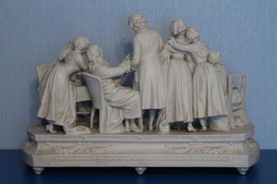 Farewell to the family (with pictures of Jean-Baptiste Greuse (Dreams)), Sitzendorf, 19th century - photo 3