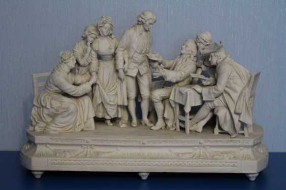 Farewell to the family (with pictures of Jean-Baptiste Greuse (Dreams)), Sitzendorf, 19th century - photo 2