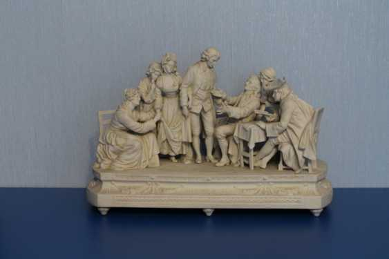 Farewell to the family (with pictures of Jean-Baptiste Greuse (Dreams)), Sitzendorf, 19th century - photo 1