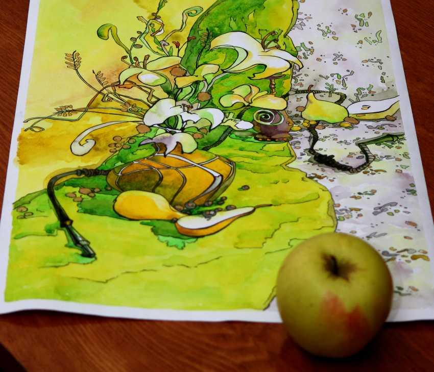 Tatiana Ignat. Yellow Green Still Life - photo 4