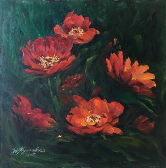 Nataliia Kulikovska. Red flowers - photo 1