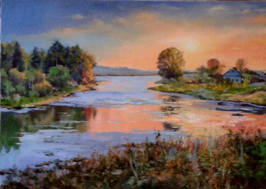 Jelena Burlane. Sunset over the river - photo 1