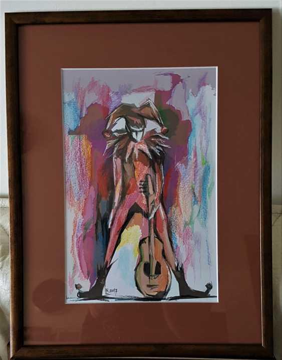 """Redas Luciunas. """"Harlequin with guitar"""" - photo 2"""
