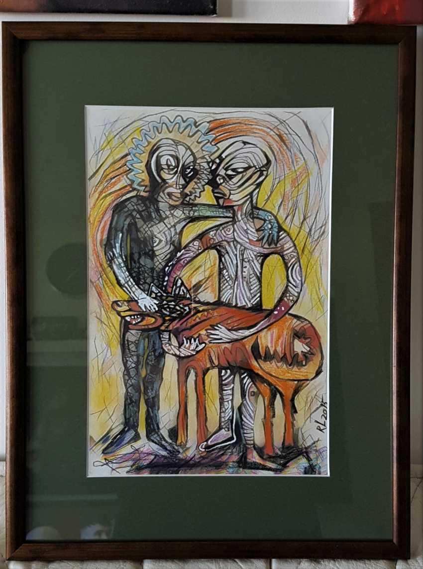 """Redas Luciunas. """"Two men and a dog"""" - photo 2"""