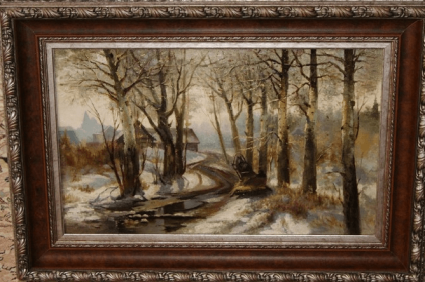 "The painting ""the Road to the city""con.XIX-early XX century. - photo 1"