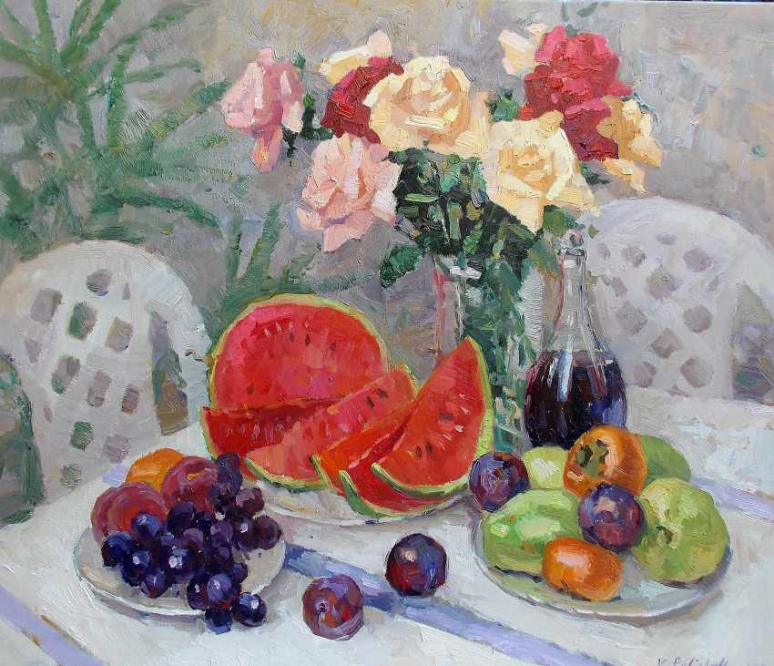 "Vladislava Turskay. ""Still life with watermelon and red wine"" - photo 1"