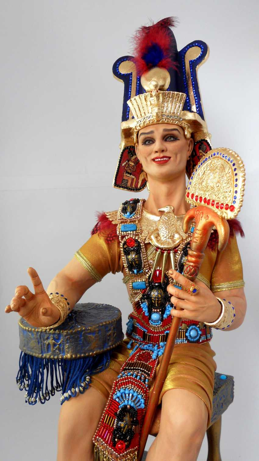 Margarita Kazantseva. Collectible doll the Pharaoh SETI - photo 1