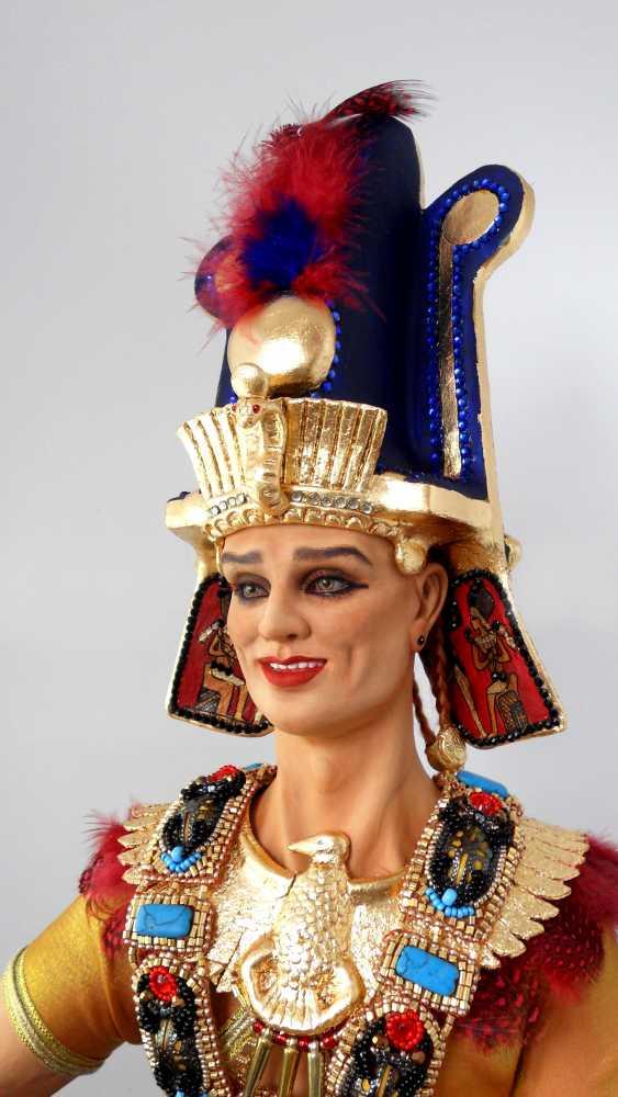 Margarita Kazantseva. Collectible doll the Pharaoh SETI - photo 3