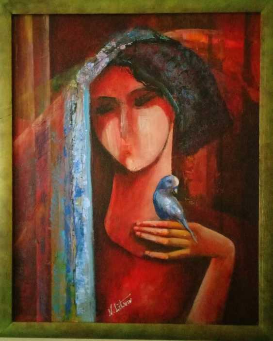 "Nina Litvin. ""Girl with parrot"" - photo 1"