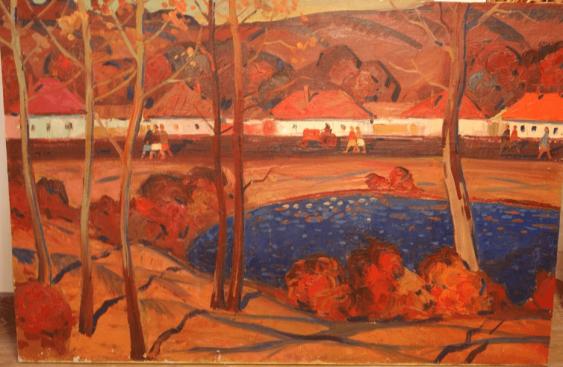 """""""Autumn in the village"""", 1972 author Starostin E. P. - photo 1"""