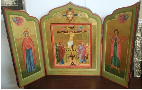 The triptych , Russia 2 floors.XX century. - photo 1