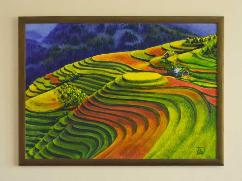 LIUDMYLA KHAPATKO,. China field ( Rice fields of China) - photo 1