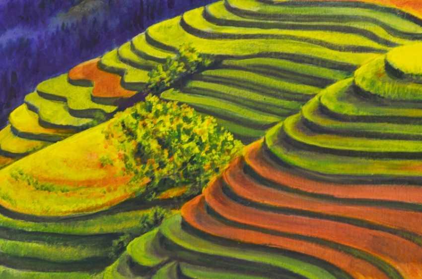 LIUDMYLA KHAPATKO,. China field ( Rice fields of China) - photo 2