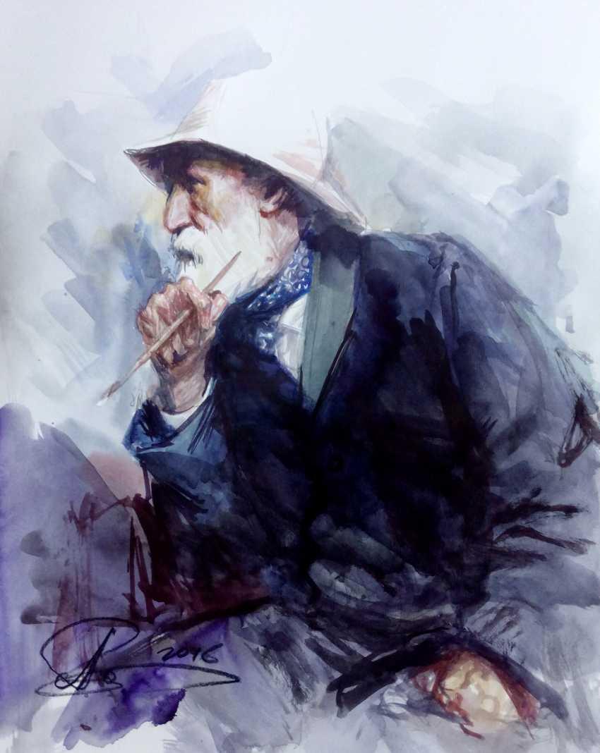 Aleksey Tochin. Portrait of Pierre Auguste Renoir - photo 1