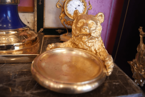 """Business card holder """"Bear"""", the Russian Empire of the XIX century. - photo 1"""