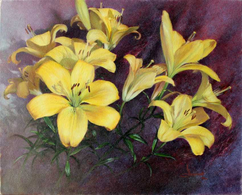 Vlad Lechehleb. Yellow lilies.A symbol of kings. - photo 1