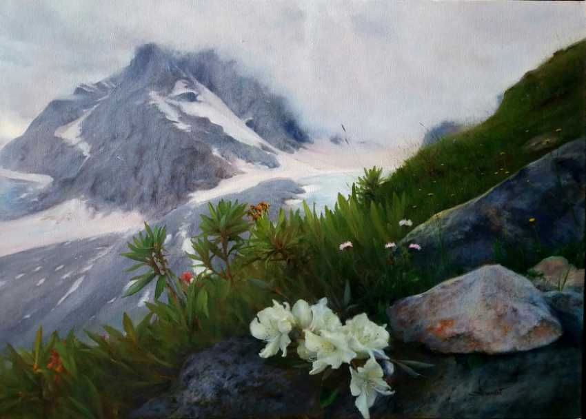 Vlad Lechehleb. Mountains.Spring.Rhododendrons. - photo 1