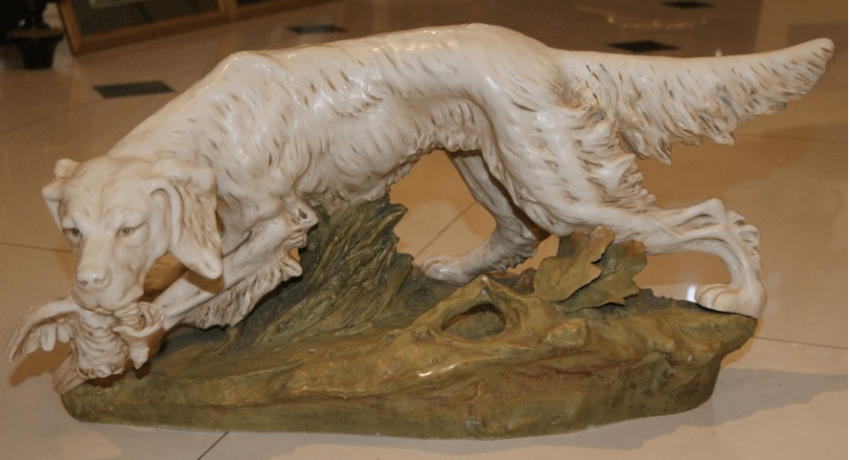 "Porcelain Dog ""Spaniel"", XIX century Europe - photo 1"