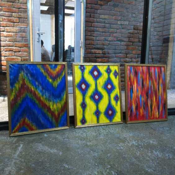 Aizat Kalcha. Triptych Ikat - photo 1