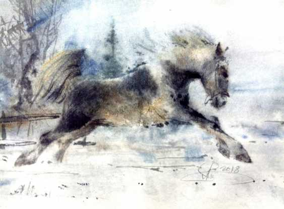 Aleksey Tochin. Horse watercolor-on-wet - photo 1