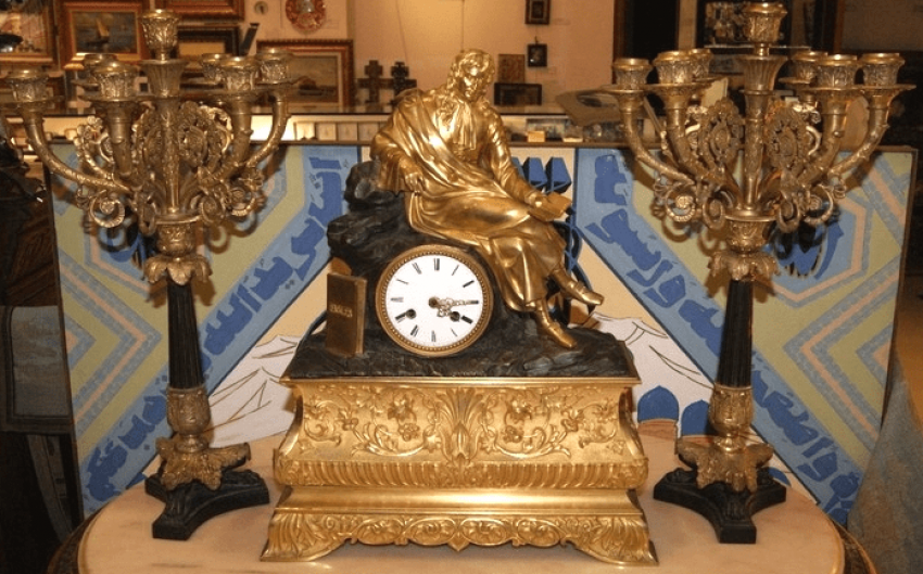 "Mantel clock Seth ""the Thinker Europe is the beginning of the NINETEENTH - photo 1"