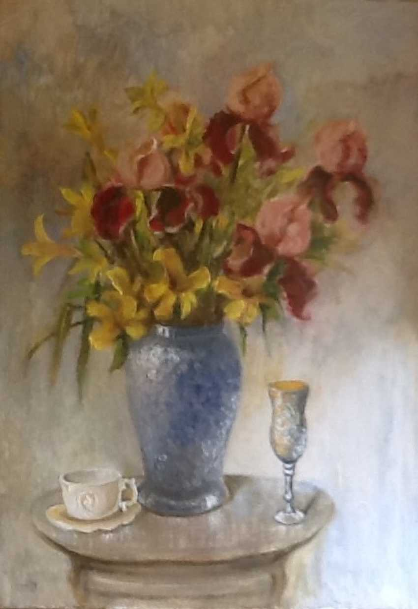 Galina Timofeevskaya. Irises and Lileynik - photo 1