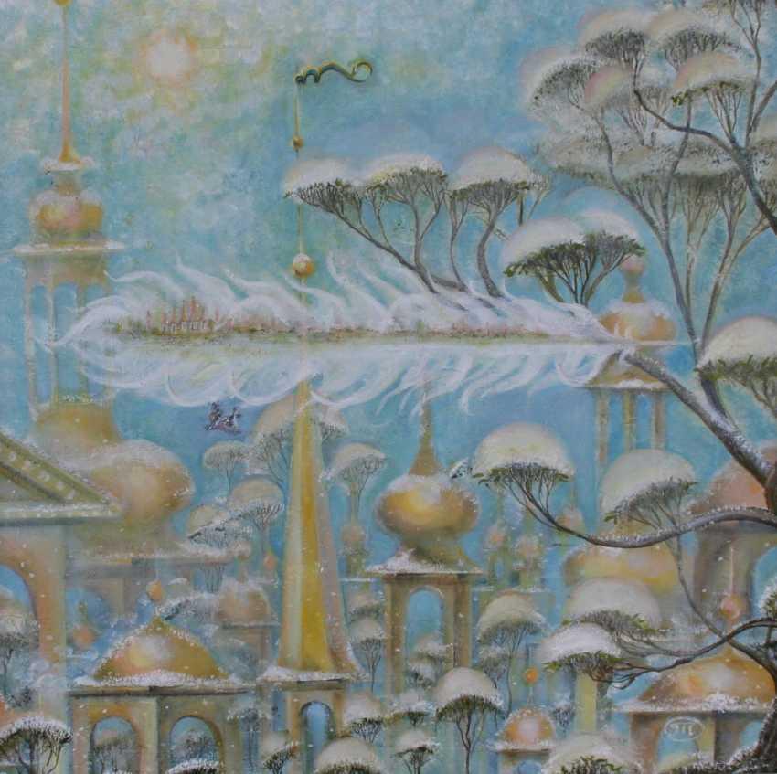 Tatiana Ostapenko. Your winter city-angel feather. - photo 1