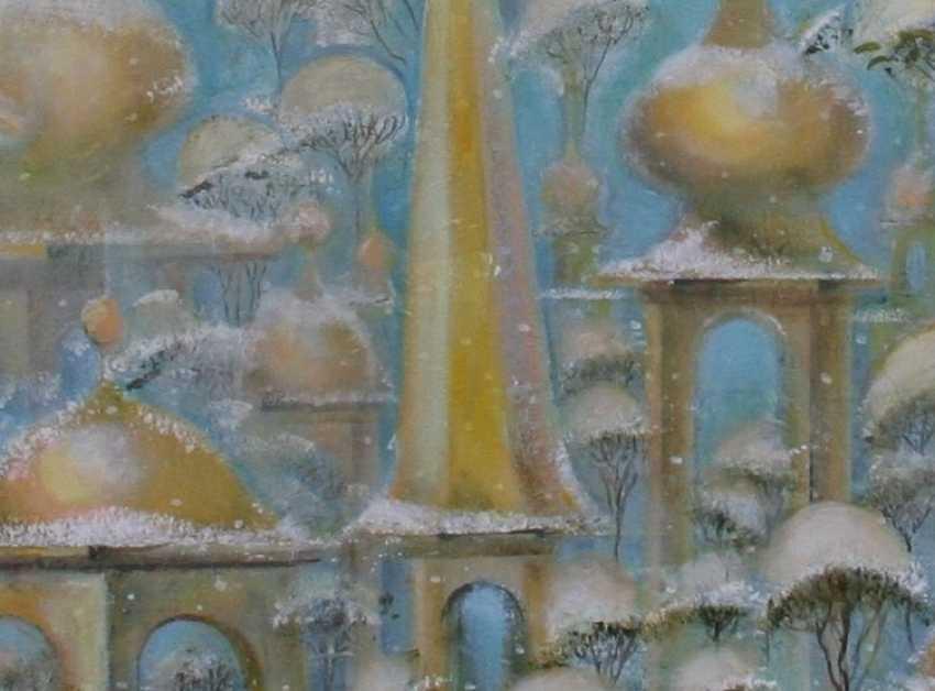 Tatiana Ostapenko. Your winter city-angel feather. - photo 2