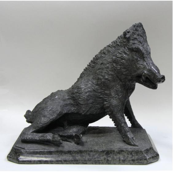Skulptur / Wildschwein Europa Ende des 19 Jahrhunderts - Foto 1