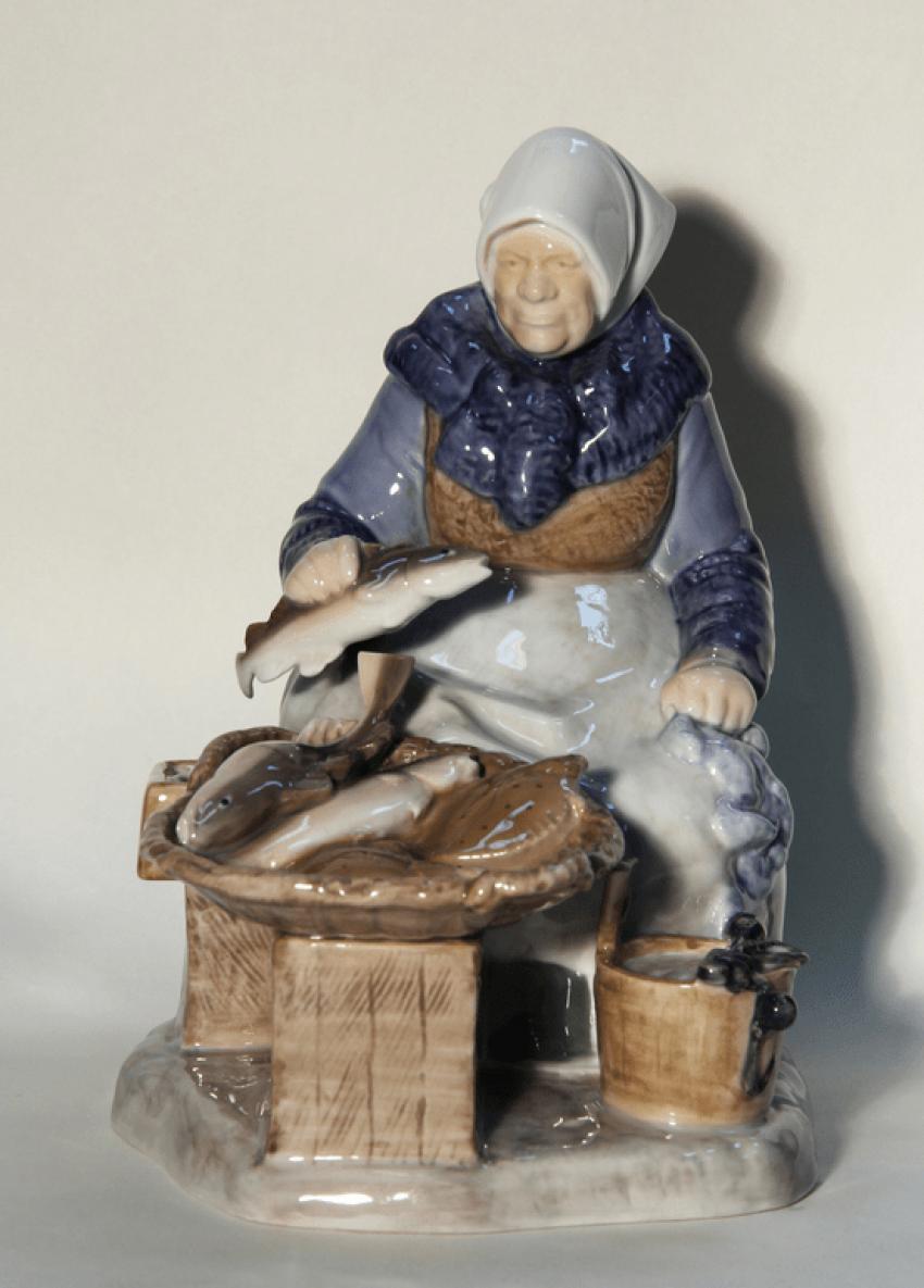 Statuette model A. Locker porcelain of the 20th century - photo 1