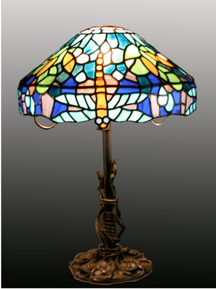 """Bronze / Lamp in the style of """"Tiffany"""" - photo 1"""