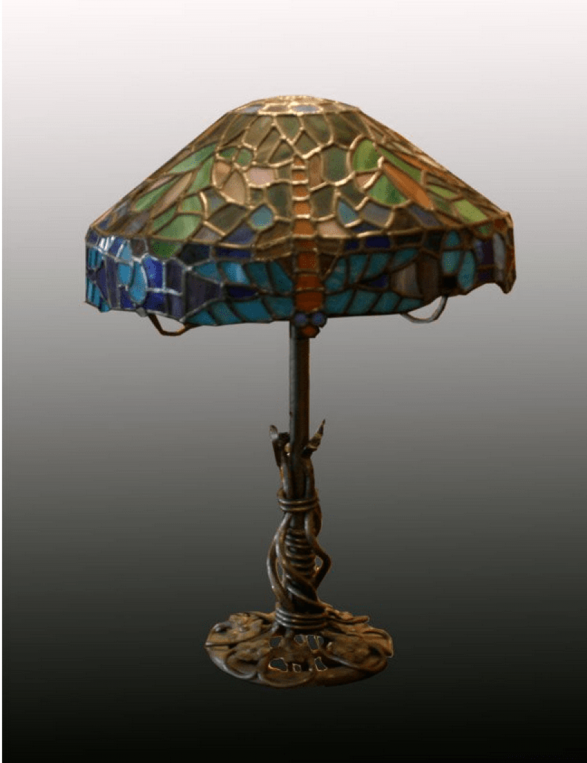 """Bronze / Lamp in the style of """"Tiffany"""" - photo 2"""