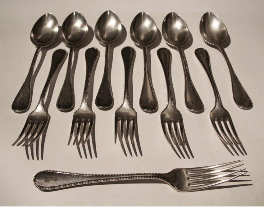 silver / Set of devices Germany 19 century - photo 1