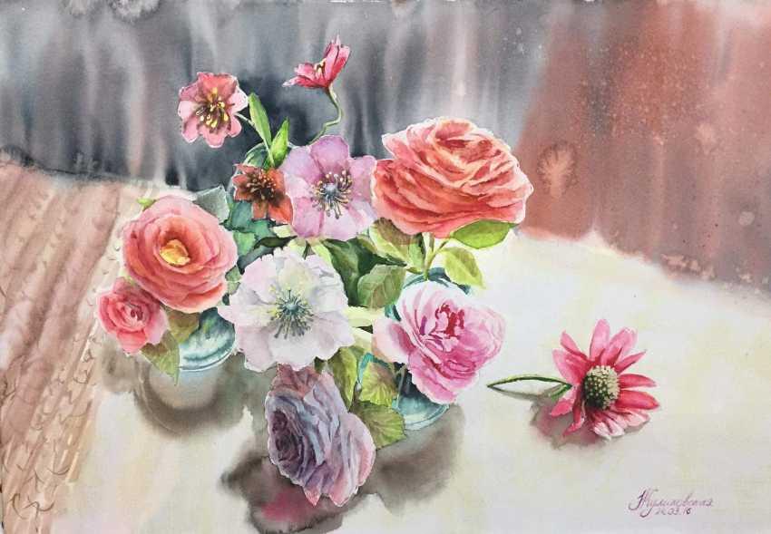 Nataliia Kulikovska. A bouquet of flowers at the window - photo 1