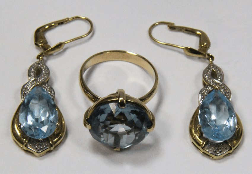 Headsets Gold 585 . Ring Earrings - photo 1