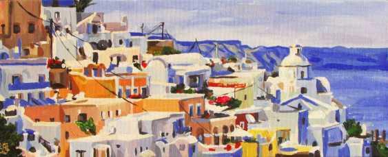 Kateryna Bortsova. Sunny day. Santorini - photo 1