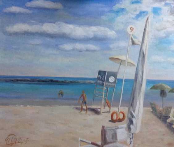"Alla Senatorova. ""Closed parasol on the seaside"" - photo 1"