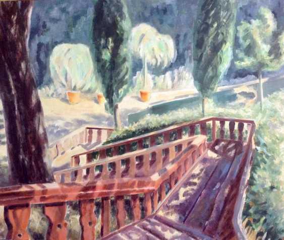 Alla Senatorova. Stairs in private park in Italy. - photo 1