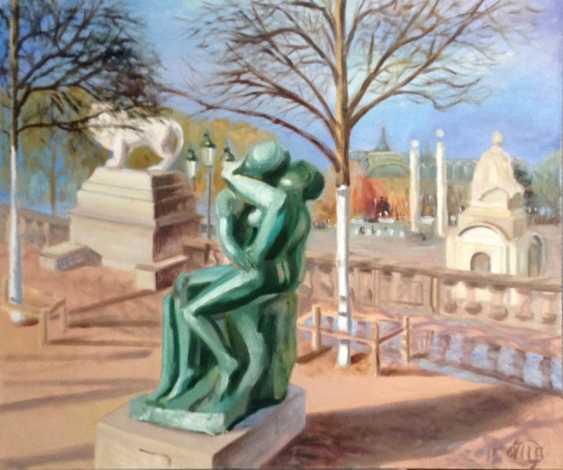 """Alla Senatorova. Rodin's sculpture """"Kiss"""" in front of Orangery, Place De La Concord. - photo 1"""