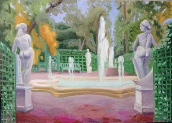 "Alla Senatorova. ""Summer garden"", two sculptures on pink sand. - photo 1"