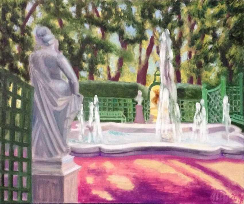 "Alla Senatorova. Shades on pink sand in "" Summer garden"" . - photo 1"
