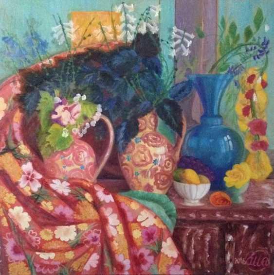 Alla Senatorova. Red vases and red textile. - photo 1