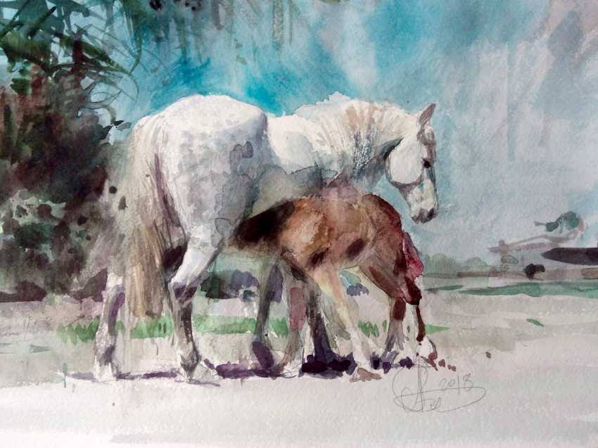 Aleksey Tochin. Horses. Etude. - photo 1