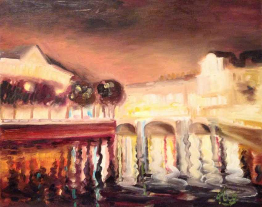 Alla Senatorova. Lights reflections in Fontanka river. - photo 1