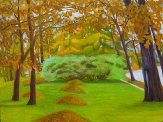 Alla Senatorova. Yellow heaps of autumn leaves. - photo 1