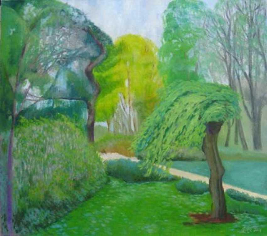 "Alla Senatorova. The green willow tree on ""The Stone island "" - photo 1"